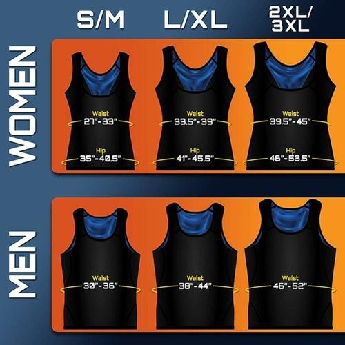 Body Shaper Sweat Sauna Vest For Men and Women - Fat Burning Shirt